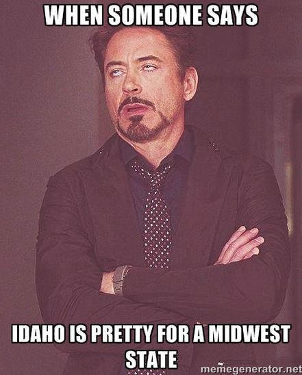 15. We get confused with Iowa a lot.