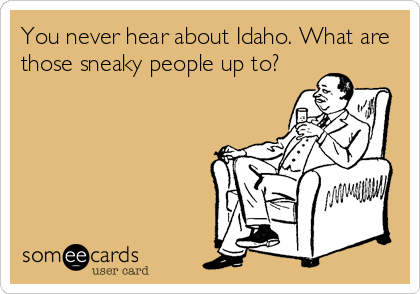 9. In fact, you don't hear too much about Idaho at all.