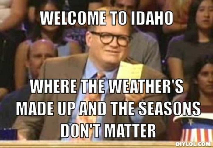 Image result for boise weather funny