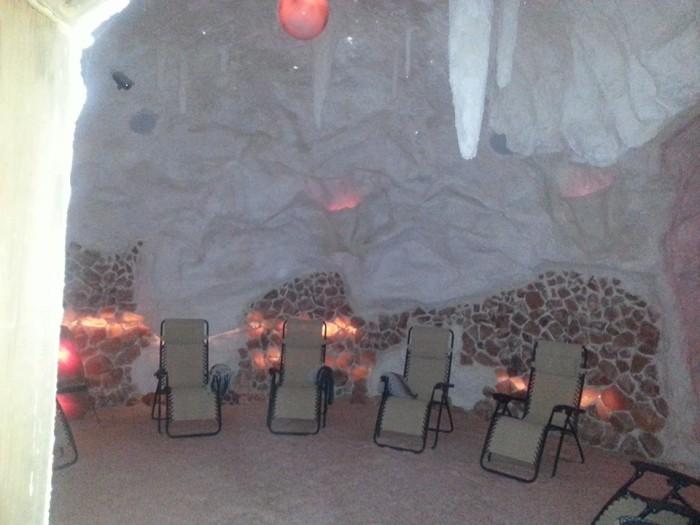 inside salt cave