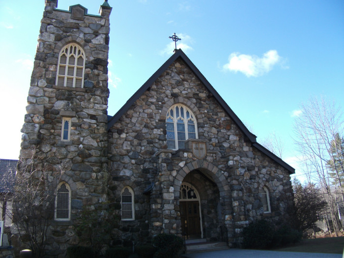 8. This stone church in Jaffrey looks enchanted.