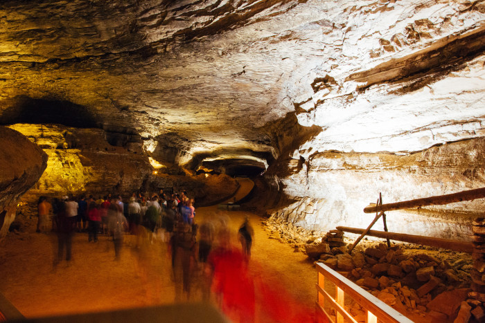 34. Mammoth Cave National Park, Kentucky. It's the longest cave system in the WORLD, and you won't forget your time there.