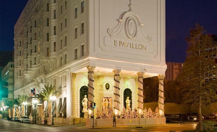 2) Le Pavillon Hotel, 833 Poydras St.