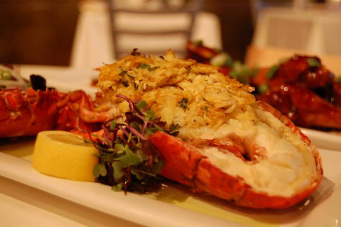 12. Crab Stuffed Lobster