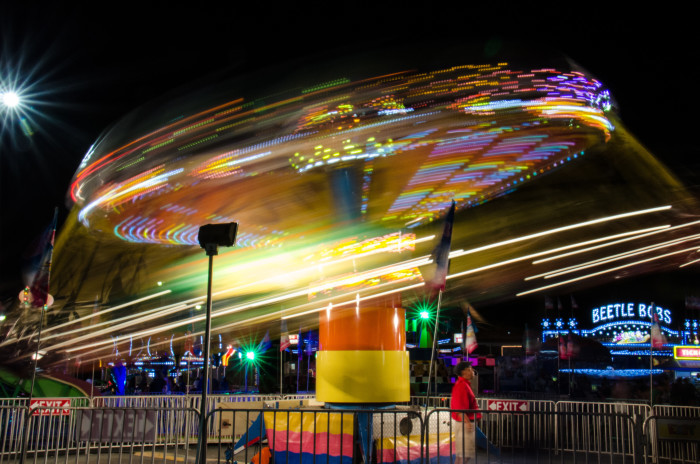 13. Instead of just eating, actually go on a ride at the State Fair.