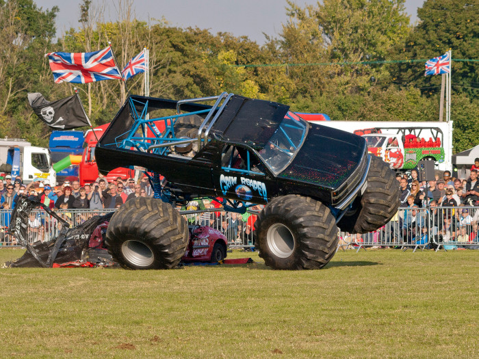 ...for a monster truck rally.