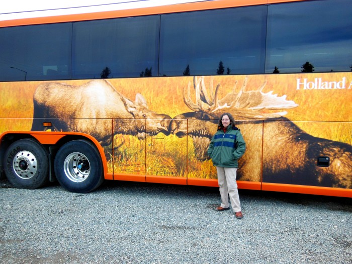 7. Pose With The Wildlife: The moose are kissing, how cute.