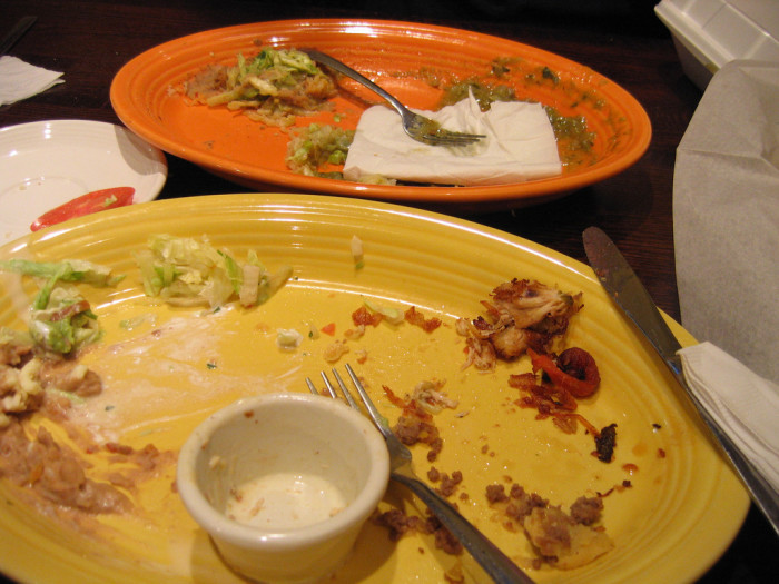 13. There's a fat chance you're getting your meal for free if you complain about it AFTER you eat it all.