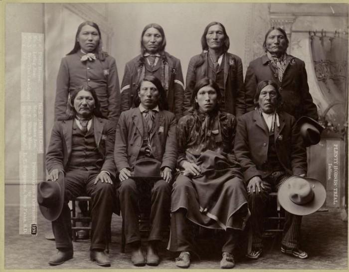 10. Plenty Horses' trial. Native Americans.