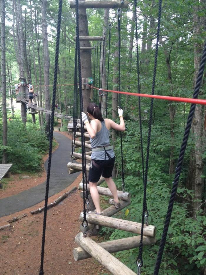 9. Adirondack Extreme's Adventure Course.