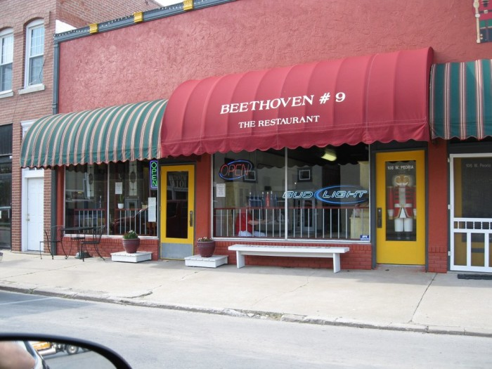 10. Beethoven's #9 Restaurant (Paola)