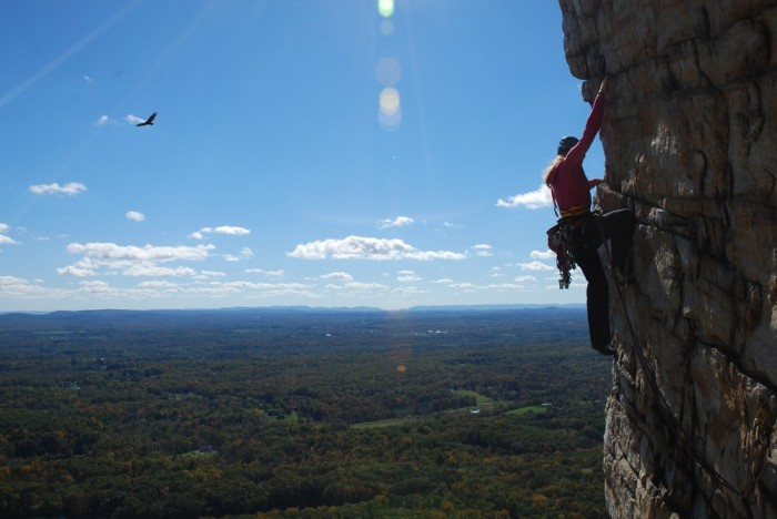 6. A brave resident enjoying a unique view of the Shawangunk area.