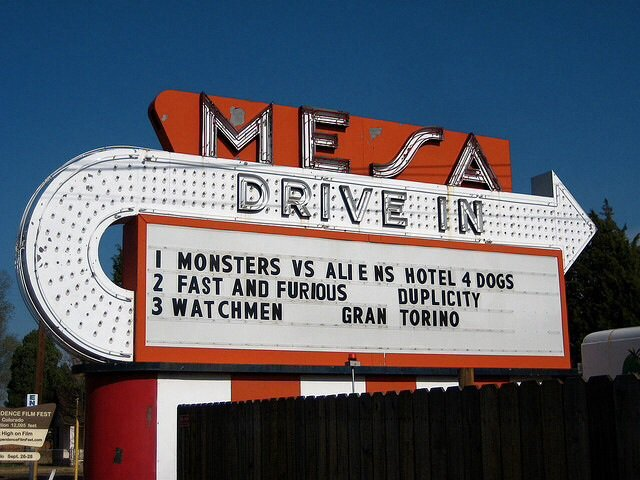 7. Treating the family to a night at the drive-in.