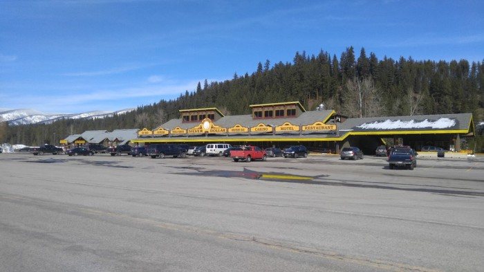 2. Ghosts and grub: Drive I-90 West to Garnet Ghost Town and 50,000 Silver Dollar Bar.
