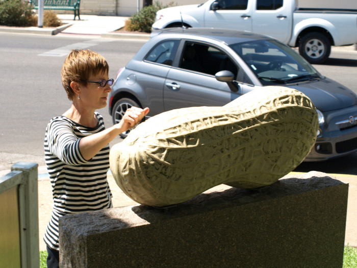 1. We make a big deal out of the world's largest peanut.