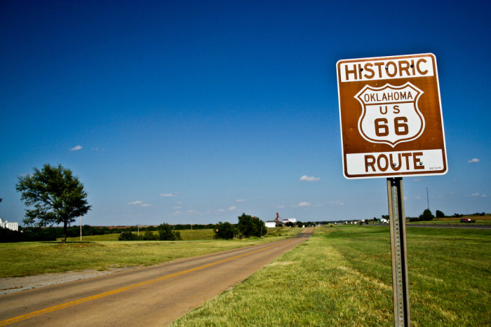 2. Oklahoma was the birthplace of Route 66.
