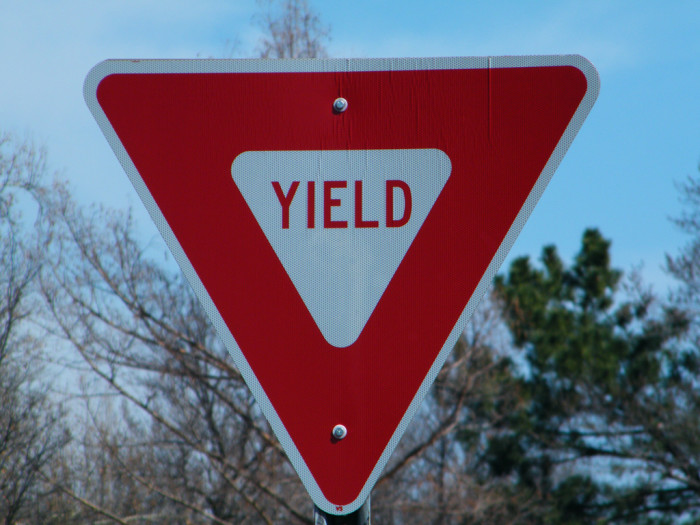 4. We were also the first to post the Yield sign.