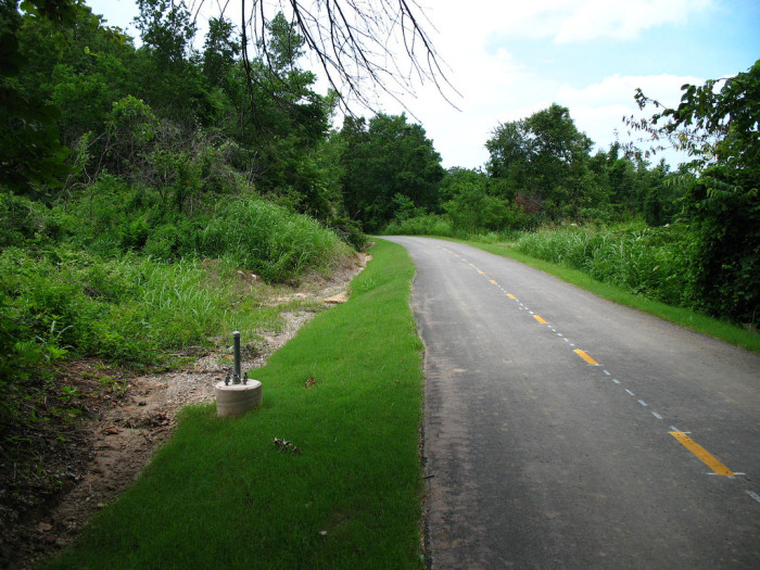 10. Bike the trails of Turkey Mountain in Tulsa.