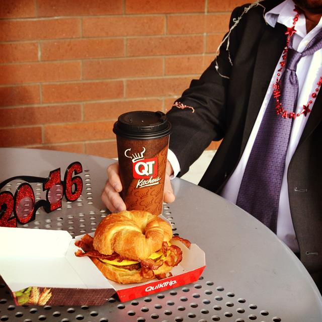 4. Stop by your local QT for coffee and breakfast.