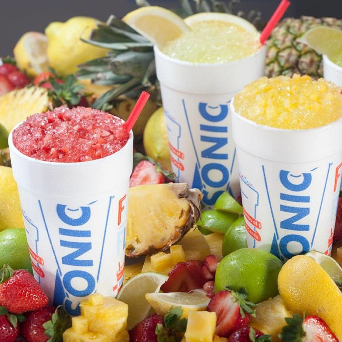 9. Make a stop at Sonic for a slushie or cherry limeade.