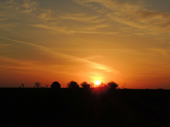 1. Wake up and watch a beautiful Oklahoma sunrise.