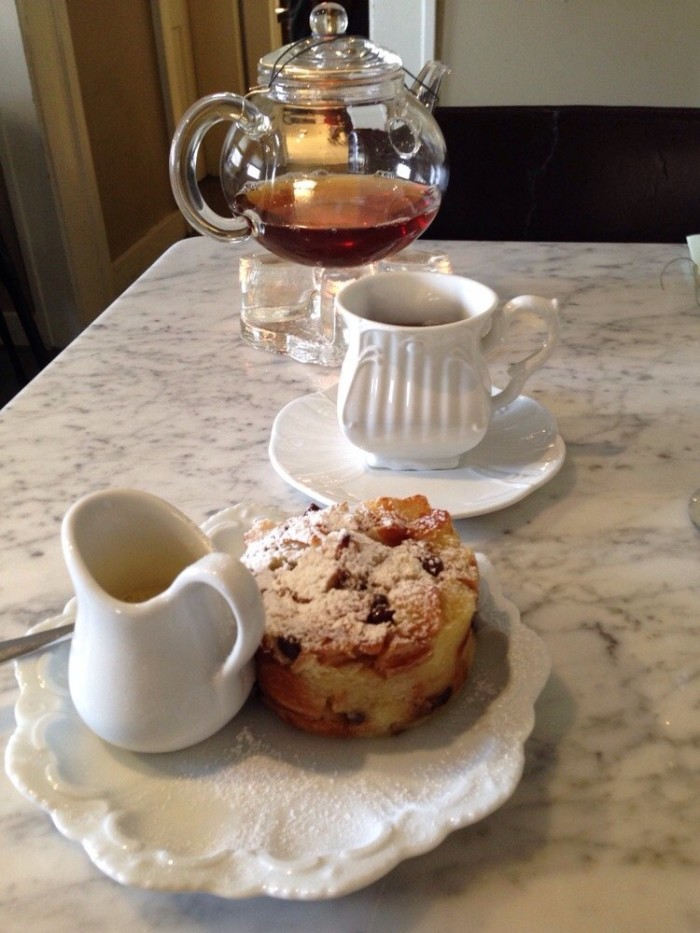 3. Or the Chocolate Chip Croissant Bread Pudding at DragonMoon Tea Co.