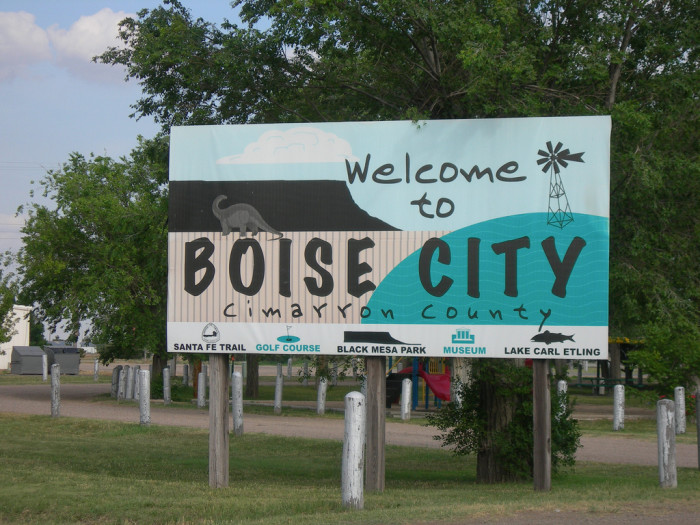 Boise City is the only town in the United States that was bombed from airplanes during World War II. The explosions weren't extremely loud, but they were loud enough to wake most, if not all, of the 1,200 people in Boise City.