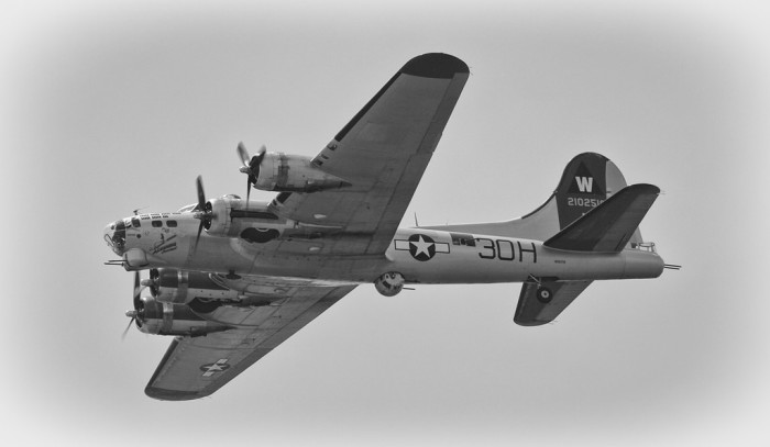 The  six bombs dropped were by pilots in the B-17 Flying Fortress Bombers. They mistakenly took lights around the town's square to be their target in Texas.