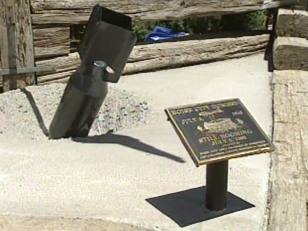 Visit the Boise City Bomb Memorial to view a replica of one of the six bombs mistakenly dropped on the city during testing. The Boise City Bomb Memorial is located just in front of the Red Chamber Caboose.