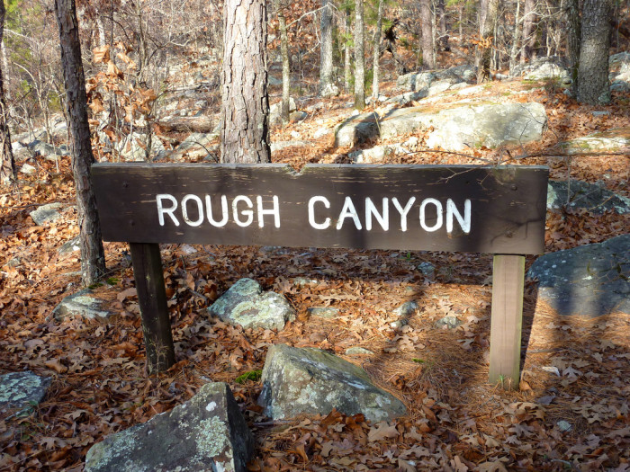 Look for the Rough Canyon sign and the trail will head east toward Rough Canyon.