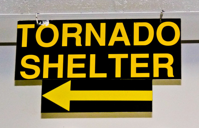6. They run to a tornado shelter when there is a tornado WATCH.