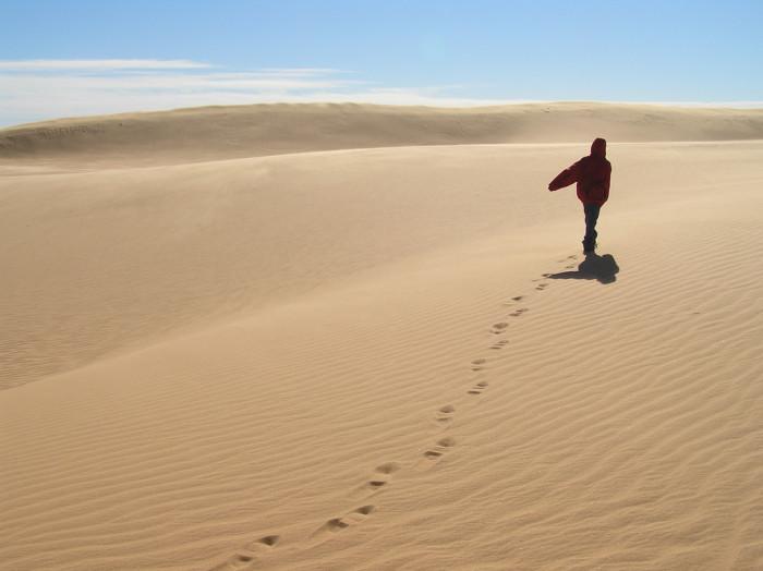 6. Walk along the dunes at Little Sahara State Park.