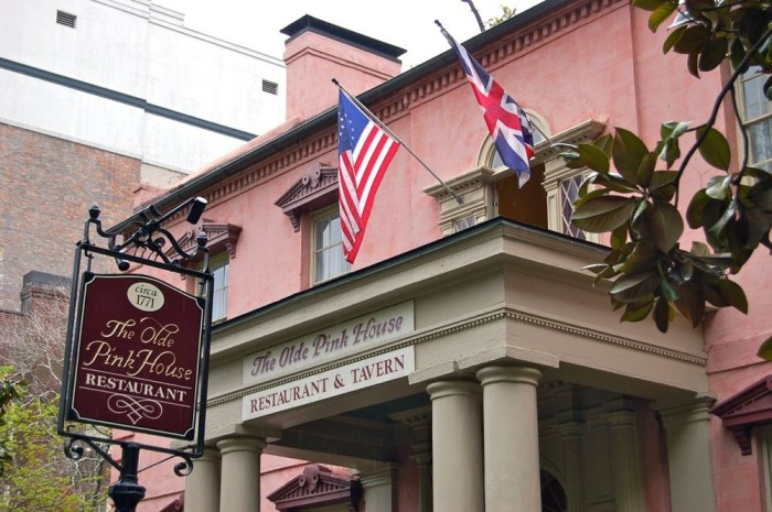 4. The Olde Pink House Restaurant: 4.5 Stars OpenTable & Yelp—23 Abercorn St, Savannah, GA 31401