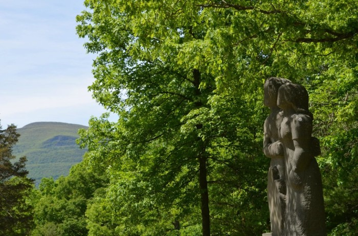 20 years after starting his work on Opus 40 and changing the park's centerpiece, he removed all other works of art off the main sculpture area and placed them around the property.
