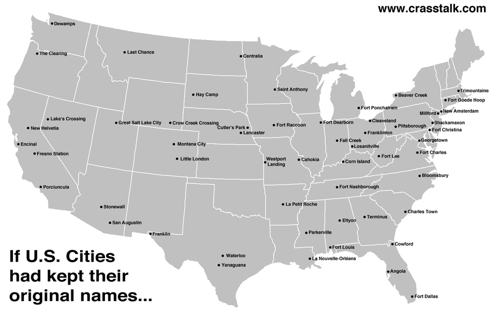 cities names maps states united usa rare kept blow mind