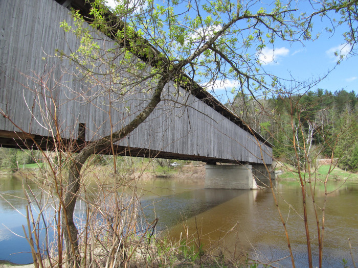 16. The Mount Orne Covered Bridge looks like a fortress.