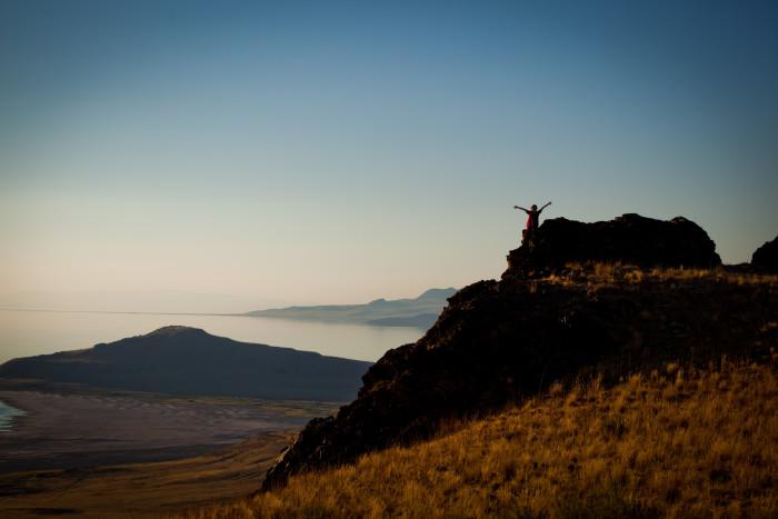 Climb a little peak.