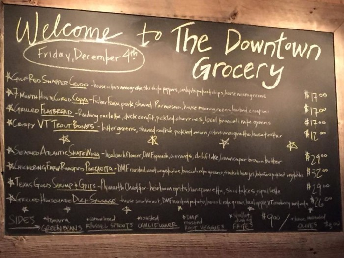 9.  The Downtown Grocery -  41 S Depot Street, Ludlow (Dinner)