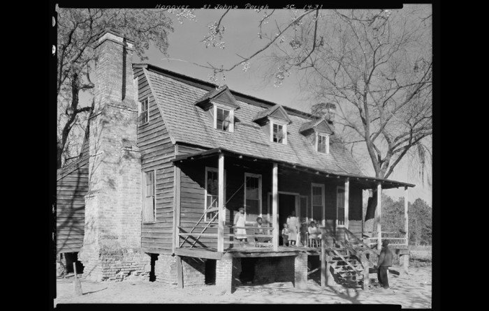 16. Hanover or Pinopolis, SC in 1938. The home is circa 1720, according to the Library of Congress notes.