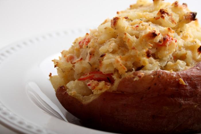 15.  Crab Stuffed Twice Baked Potato