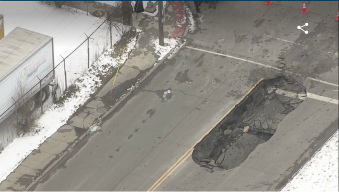 6. And even with all the construction, you're still contending with potholes.