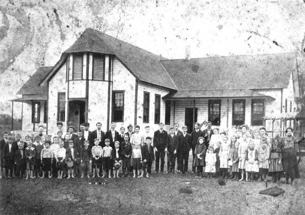 Aucilla school with principal Mr. Johnson, and teachers Bertha Heath and Sue May