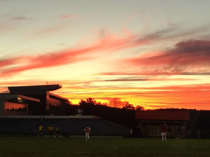 9. The sun sets in Princeton.