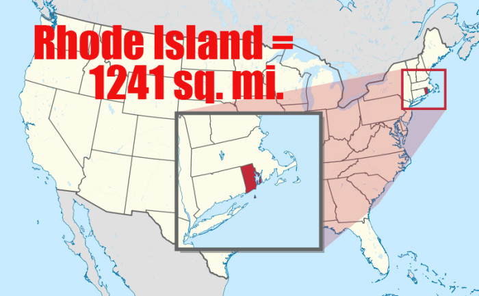 6. The U.S. State of Rhode Island is smaller than Horry County, SC.