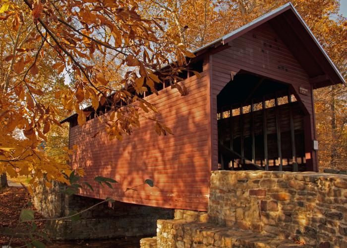 1. Roddy Road Covered Bridge