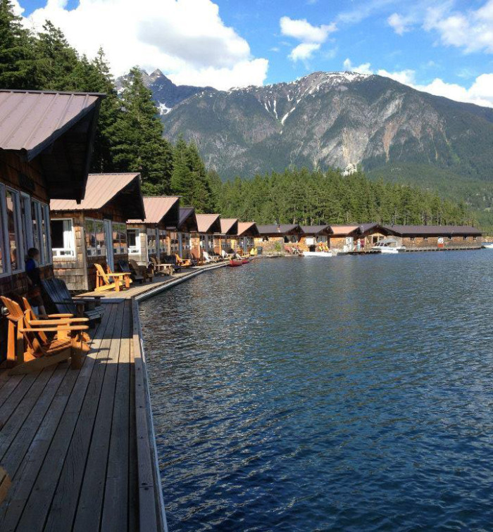 2. Stay in a floating cabin in the North Cascades National Park.