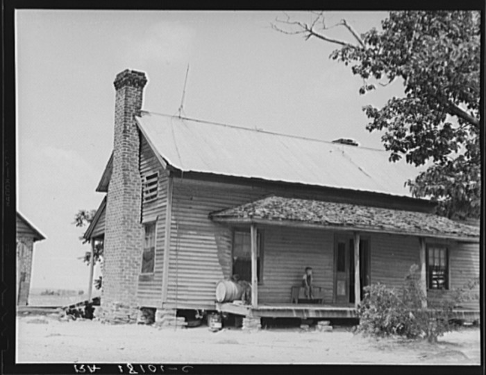 2. The home of a sharecropper near Chesnee, SC.