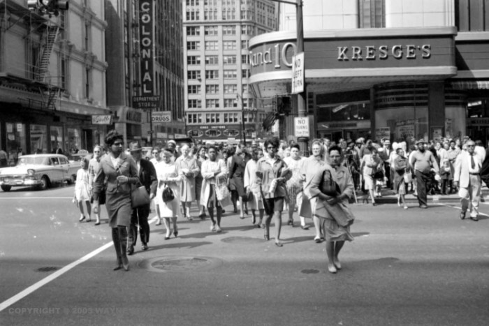 3. Crowds in downtown Detroit.