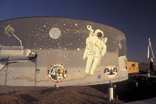 13. There are numerous detailed and evocative murals like this one, at the Space Murals Museum, near Las Cruces.