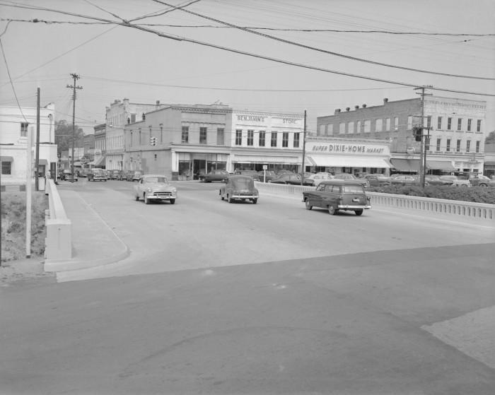 7. St Matthews - The corner of U.S. 601 and Bridge St in 1953.